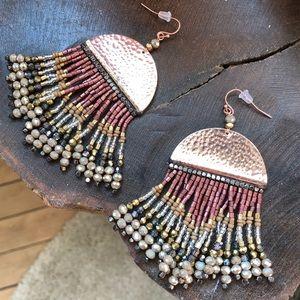 Free People - Metallic Beaded Earrings